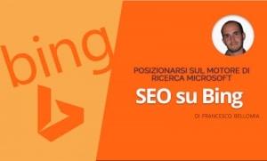 Posizionarsi su Bing Francesco Bellomia