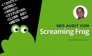 Seo audit Screaming Frog Francesco Bellomia