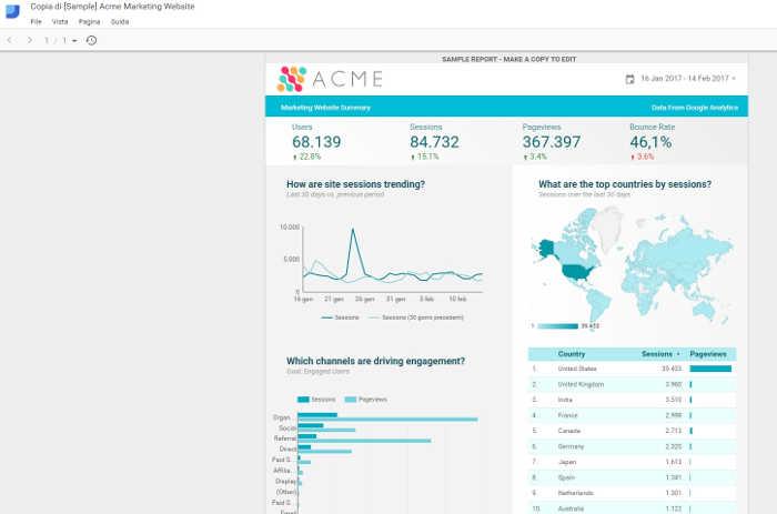 Google Data Studio - Report SEO