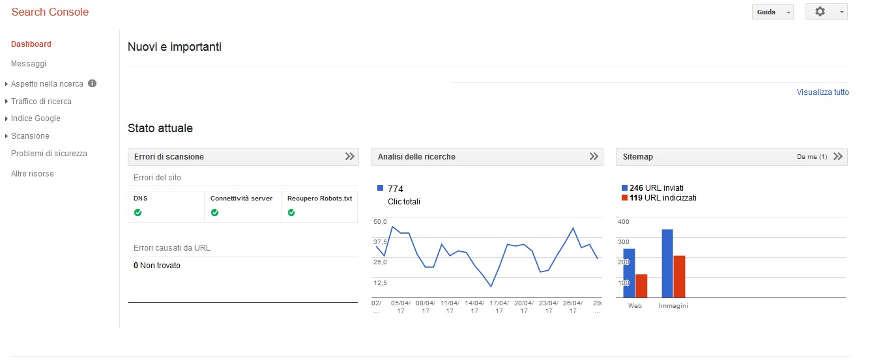Guida Google Search Console