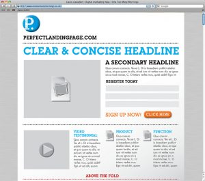 Landing Page - Esempio schematico